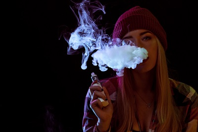 Young Woman Vaping